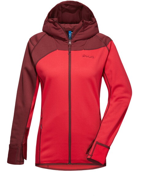 PYUA Ascend Fleece Jacket Women burgundy-barberry pink